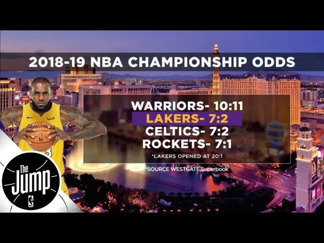 After getting LeBron James, Lakers now have second best NBA title odds for 2018-19 | The Jump | ESPN