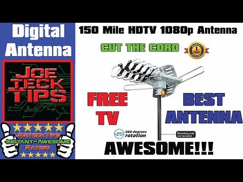 150 Mile HDTV 1080p OutDoor OTA 360 degree Antenna - Review | JoeteckTips