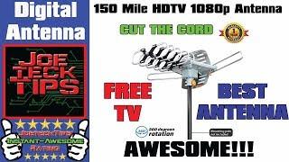 150 Mile HDTV 1080p OutDoor OTA 360 degree Antenna - Review   JoeteckTips
