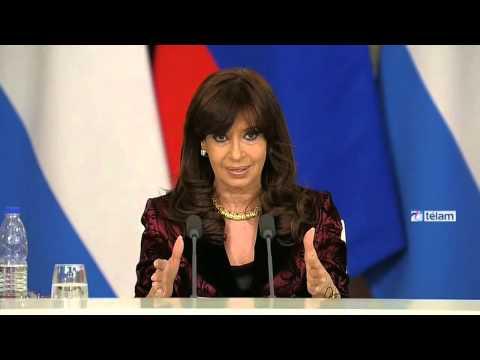 """Cristina destacó la """"larga tradición"""" de la relación bilateral entre Argentina y Rusia"""