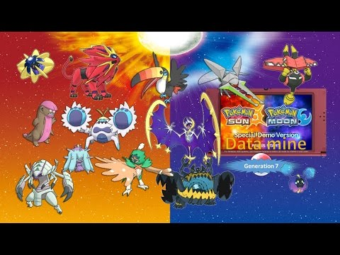 WHOLE POKEDEX: GENERATION 7. ALOLA'S REGINAL POKEDEX   Pokemon Sun Moon Demo datamine