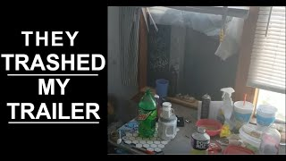 My very first squatter & eviction at trailer park
