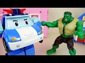 Hulk Vs Robocar Poli Car Toys Escape From The Cage