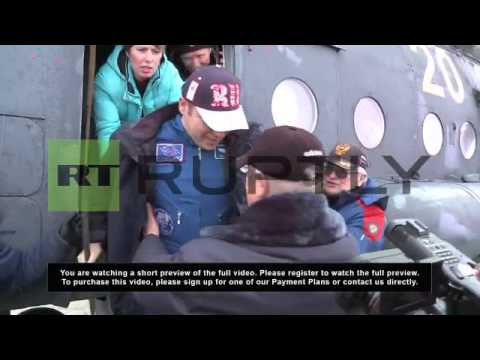 Kazakhstan: Russia's Soyuz brings ISS crew back to Earth