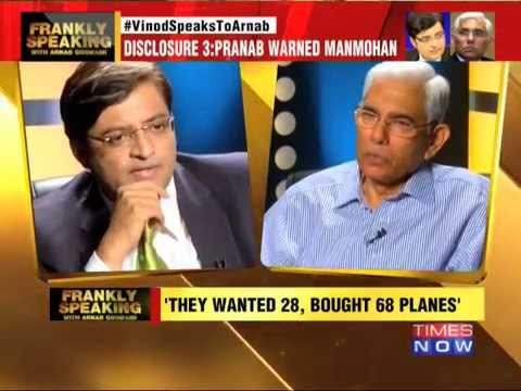 Vinod Rai SpeaksTo Arnab Goswami: Jolt to Congress