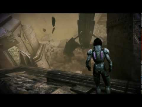 Mass Effect 3: Thresher Maw kills a Reaper on Tuchanka