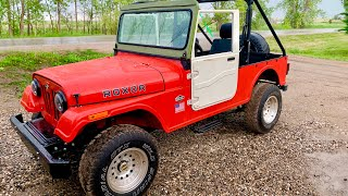 Mocking the Mahindra ROXOR with MAHINDRA THAR Windshield Frame and Doors