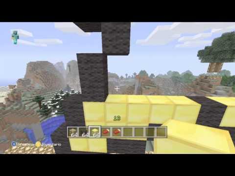 Minecraft Xbox 360|Pixel Art #2 Estrella De Mario