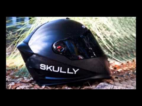 Skully Demonstrates Gps Rear View Camera In Motorcycle