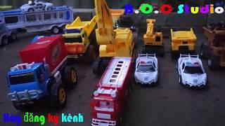 Xe cần cẩu, xe tải giúp đỡ bạn mắc kẹt trong cát  - Xe cần cẩu đồ chơi - Nhạc thiếu nhi vui nhộn