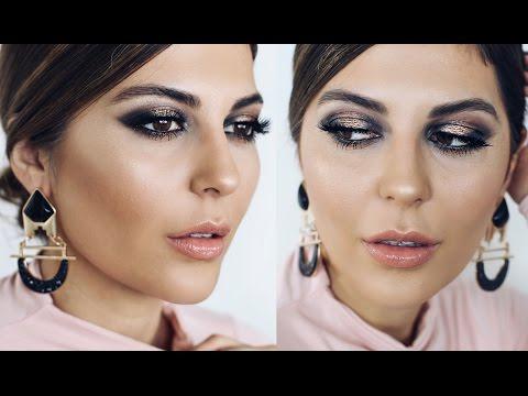 Gold Smokey Eye Makeup Tutorial + GRWM NYFW