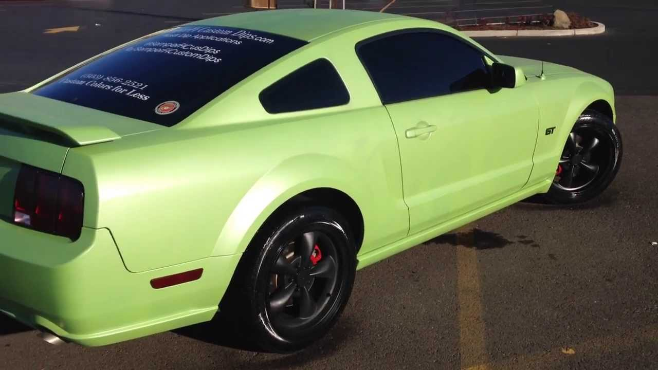 Plasti Dip Pearl Electric Lime Green Custom 05 Mustang