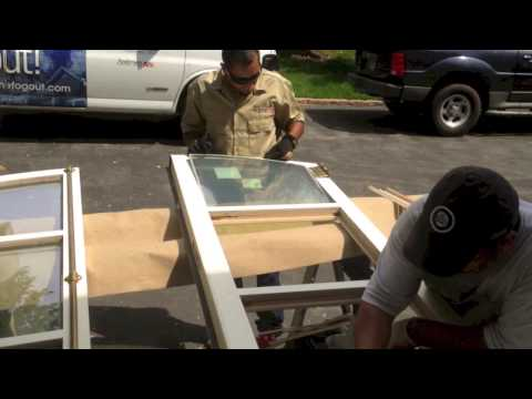 Window Replacement Repair: Foggy French Doors