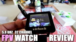 VIRHUCK T909 5.8GHZ FPV Watch Review - [Unboxing, Inspection, Setup, FPV Test]