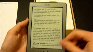 New 2011 Amazon Kindle 6 Wi-Fi e-Reader Unboxing / Video Review [HD]
