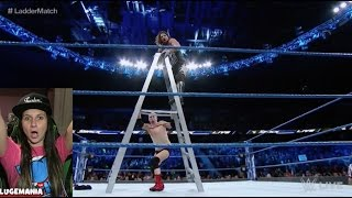 WWE Smackdown 11/22/16 Ladder Match Ellsworth vs AJ Styles | CONTRACT