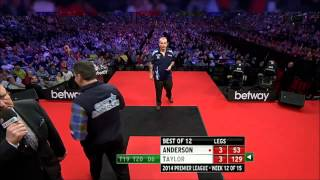 Phil Taylor busts 129 against Gary Anderson