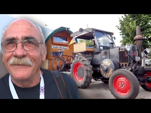 German Man Travels to Russia on 1936 Tractor to Cheer for His Team in World Cup