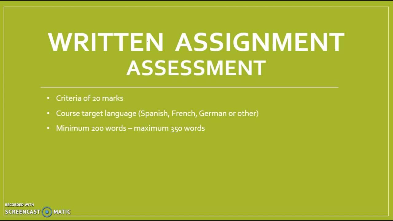 ib english literature written assignment