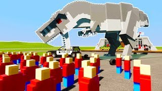 INDOMINOUS REX ATTACKS FIELD TRIP - Brick Rigs Lego Detective Case RolePlay