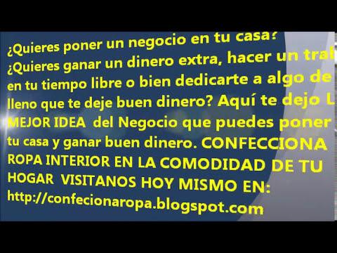 COMO TRABAJAR DESDE CASA - CONFECCIONANDO ROPA INTERIOR