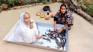 Rare Jiol fish Recipe Prepared by our Granny in Clay Pot | Singi Mach Recipe | Village Food