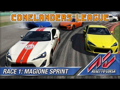 Assetto Corsa (Multiplayer) - Conelanders League - Race 1: Magione Sprint (12 lap)