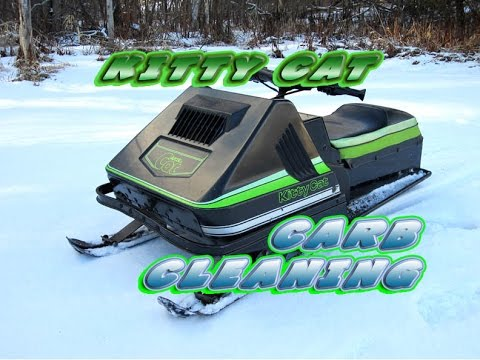 HOW-TO Clean The Carburetor On Kitty Cat Snowmobile