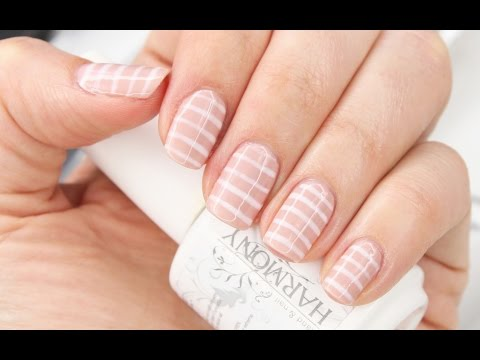 Nude & Stripe Nautical Nails For Spring | Gel Polish Application & Removal How To | Shonagh Scott - YouTube