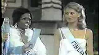 Miss Universe 1975 Crowning, Miss Haiti Is First Runner Up
