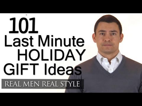 101 Last Minute Holiday Gifts - Gift Ideas For Men - Christmas - New Years - Mans Guide