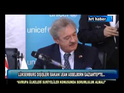 LÜKSEMBURG DIŞİŞLERİ BAKANI JEAN ASSELBORN GAZİANTEP'TE