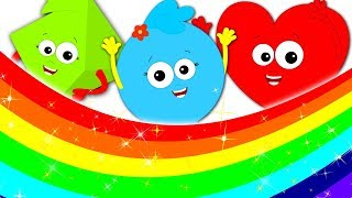 Rainbow Colors Song | Learn Colors For Kids | Preschool Videos Fro Children By Baby Shapes
