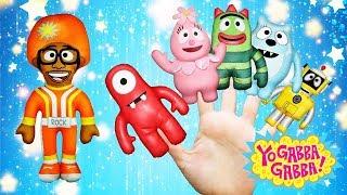 ❤️ 🧡 💛  Yo Gabba Gabba Toys Finger Family Song / Fun Nursery Rhymes 💚 💙 💜