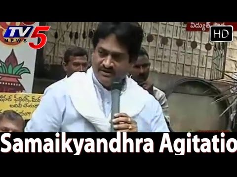 Ghazal Srinivas Singing Songs For Samaikyandhra -  Tv5 video