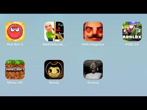 Red Ball 4,Baldi's Basics,Hello Neighbor,Roblox,Minecraft,Bendy,Granny,Красный Шарик,Гренни,Сосед
