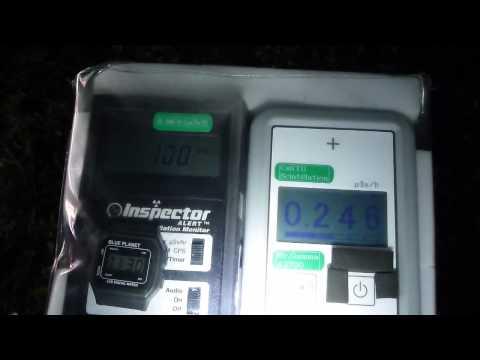 Fukushima Nuclear Accident 福島・ローソン郡山谷田川の放射線測定20120714