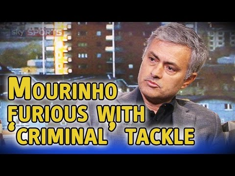 Jose Mourinho describes Ashley Barnes tackle on Nemanja Matic as 'criminal' on Goals On Sunday