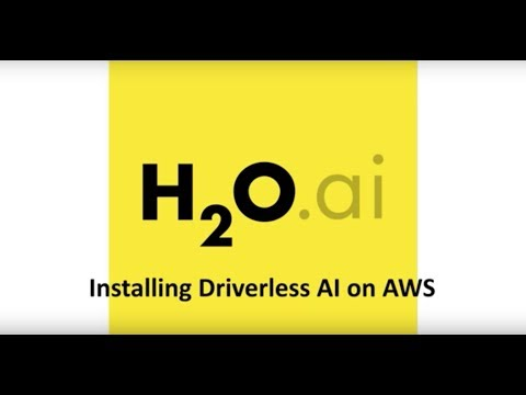 Installing Driverless AI On AWS