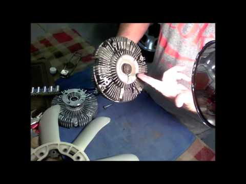 Bad Fan Clutch Demonstration (Causes high head pressure in A/C system)