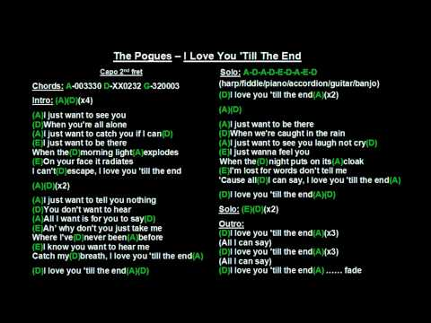 The Pogues  I Love You Till The End Backing Track