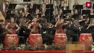 中国姑娘的4面大鼓 震撼维也纳金色大厅 Four Chinese Girls' Drum Shaking Vienna Golden Hall