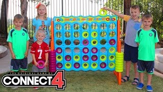 GIANT CONNECT 4 || Family Game Night