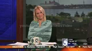 News blooper - news anchor Jessica Holmes