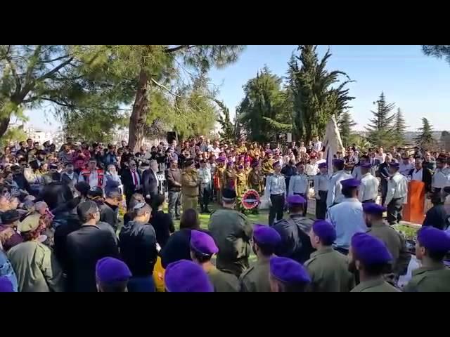 Funeral of IDF soldier Major Yochai Kalangel, killed in Hezbollah attack