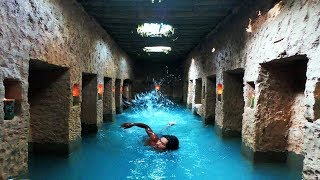 Two Men Build Secret Underground Temple With Swimming Pool And Living As Ancient Period