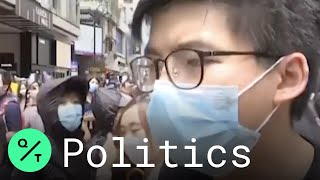 "Hong Kong Activist Joshua Wong Wants to ""Let Beijing Know That We Will Never Surrender"""