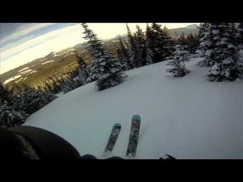 Backcountry Skiing on Avalanche chute