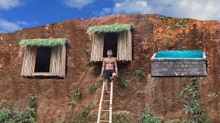 Dig the cliff to build shower tank and undergroud hut system to avoid wildlife