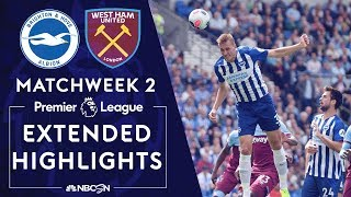 Brighton v. West Ham | PREMIER LEAGUE HIGHLIGHTS | 8/17/19 | NBC Sports